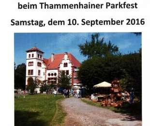 Handwerker- und Flohmarkt beim Thammenhainer Parkfest am 10.09.2016